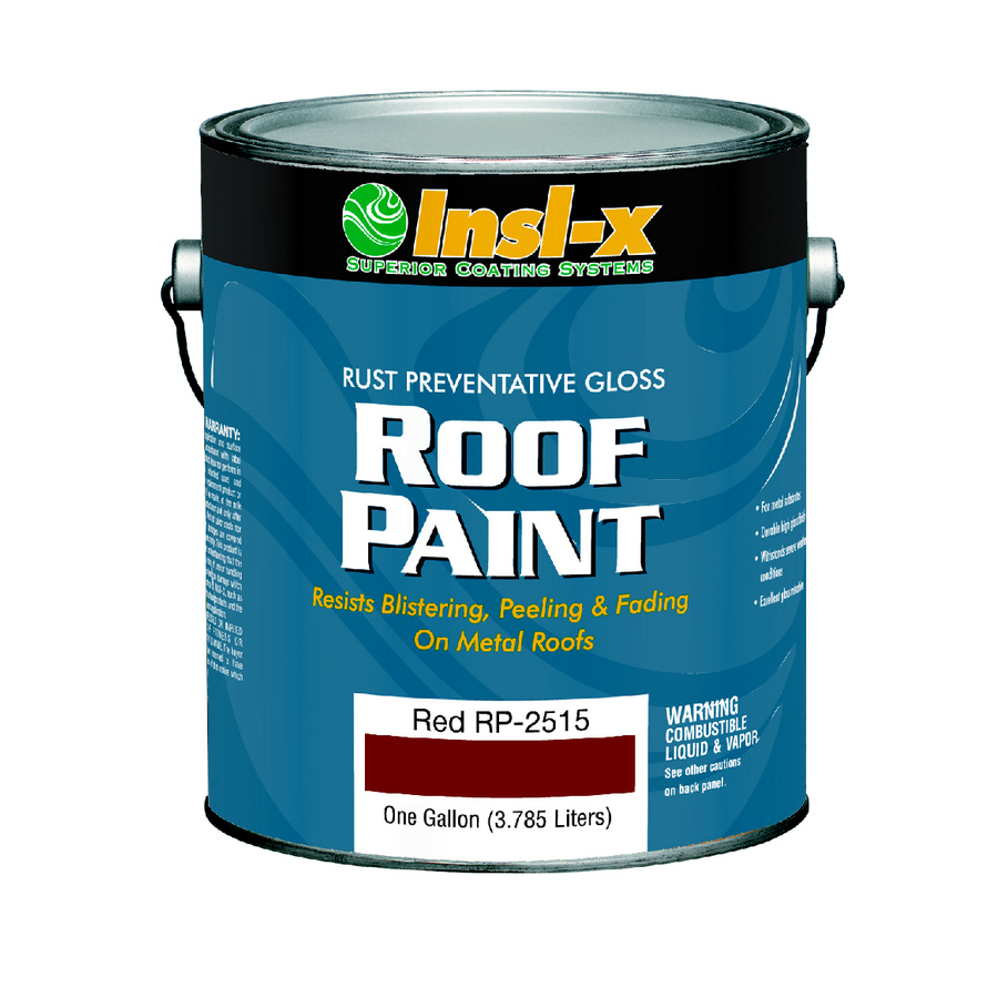 Shop Insl X 1 Gallon Exterior Gloss Red Oil Base Paint And Primer In One At