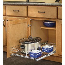 Rev-A-Shelf 17.5-in W x 22-in D x 7-in H 1-Tier Metal Pull Out Cabinet Basket