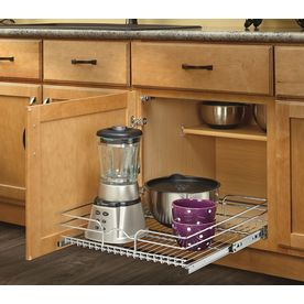 Rev-A-Shelf 20.5-in W x 22-in D x 7-in H 1-Tier Metal Pull Out Cabinet Basket