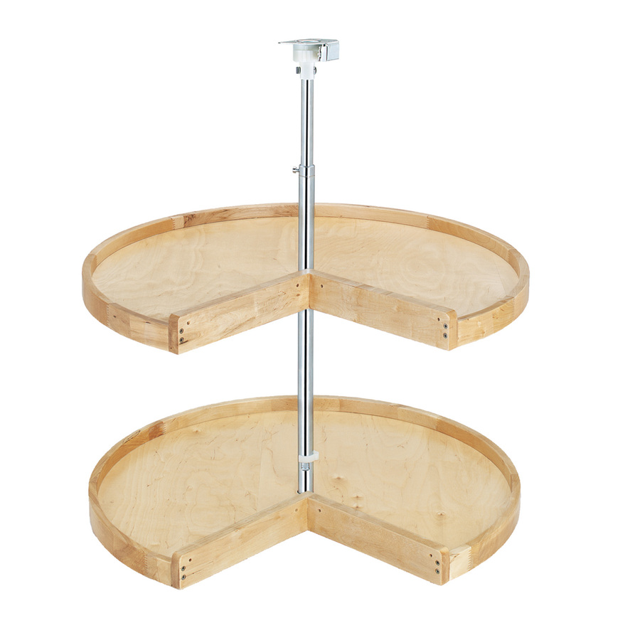 Shop Rev-A-Shelf 2-Tier Wood Pie-Cut Cabinet Lazy Susan at ...