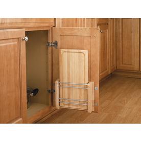 Rev-A-Shelf 12.25-in W x 2-in D x 16.25-in H 1-Tier Wood Pull Out Cabinet Basket