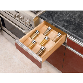 Shop rev a shelf x 16 in wood spice tray insert for Wallpaper tray home depot