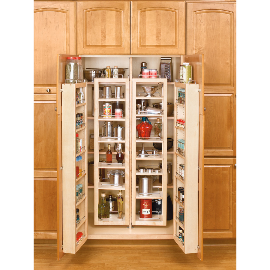 shop rev a shelf 57 in wood swing out pantry kit at