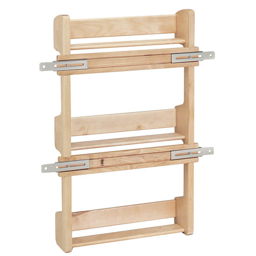 Under Cabinet Drop Down Shelf Hardware: Shop Rev-A-Shelf Wood In-Cabinet Spice Rack At Lowes.com