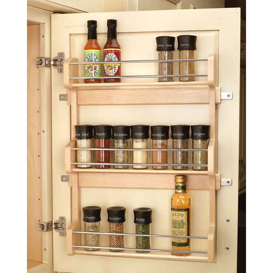 shop rev a shelf wood in cabinet spice rack at