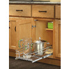 Rev-A-Shelf 8.5-in W x 18-in D x 6-in H 1-Tier Metal Pull Out Cabinet Basket