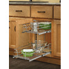 Rev-A-Shelf 8.75-in W x 22-in D x 19-in H 2-Tier Metal Pull Out Cabinet Basket