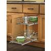Rev-A-Shelf 8.75-in W x 22-in D x 19-in H 2-Tier Metal Pull Out Cabinet Basket