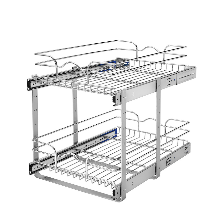 Rev A Shelf 19 In H X 14 75 In W X 22 In D Base Cabinet: Shop Rev-A-Shelf 14.75-in W X 22-in D X 19-in H 2-Tier