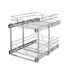 Rev-A-Shelf 14.75-in W x 22-in D x 19-in H 2-Tier Metal Pull Out Cabinet Basket