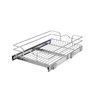 Rev-A-Shelf 14.5-in W x 22-in D x 6-in H 1-Tier Metal Pull Out Cabinet Basket