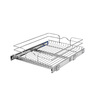 Rev-A-Shelf 17.5-in W x 22-in D x 6-in H 1-Tier Metal Pull Out Cabinet Basket
