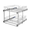 Rev-A-Shelf 17.75-in W x 22-in D x 19-in H 2-Tier Metal Pull Out Cabinet Basket