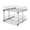 Rev-A-Shelf 20.75-in W x 22-in D x 19-in H 2-Tier Metal Pull Out Cabinet Basket