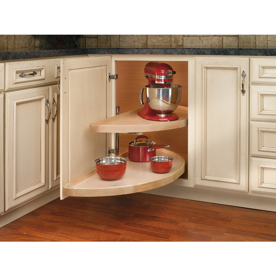 Shop Rev A Shelf 2 Tier Wood Half Moon Cabinet Lazy Susan At