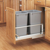 Rev-A-Shelf 27-Quart Silver Trash Can