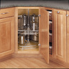 Rev-A-Shelf 32-in W x 32-in D x 26-in H 6-Tier Metal Pull Out Cabinet Basket