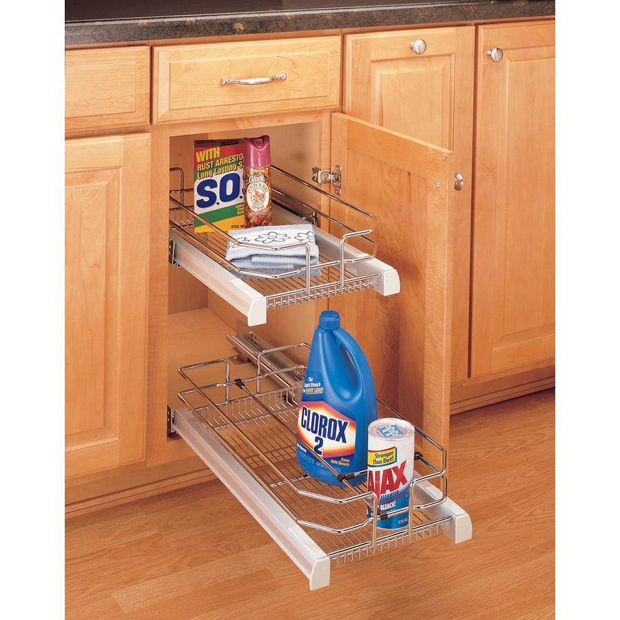 shop rev a shelf w x 22 in d x h 1 tier. Black Bedroom Furniture Sets. Home Design Ideas