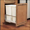 Rev-A-Shelf 50-Quart WhiteTrash Can