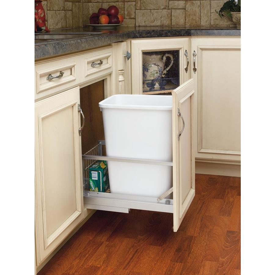 shop rev a shelf 35 quart white trash can at. Black Bedroom Furniture Sets. Home Design Ideas