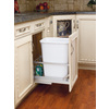 Rev-A-Shelf 35-Quart White Trash Can