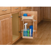 Rev-A-Shelf 10.5-in W x 5-in D x 18.63-in H 1-Tier Wood Pull Out Cabinet Basket