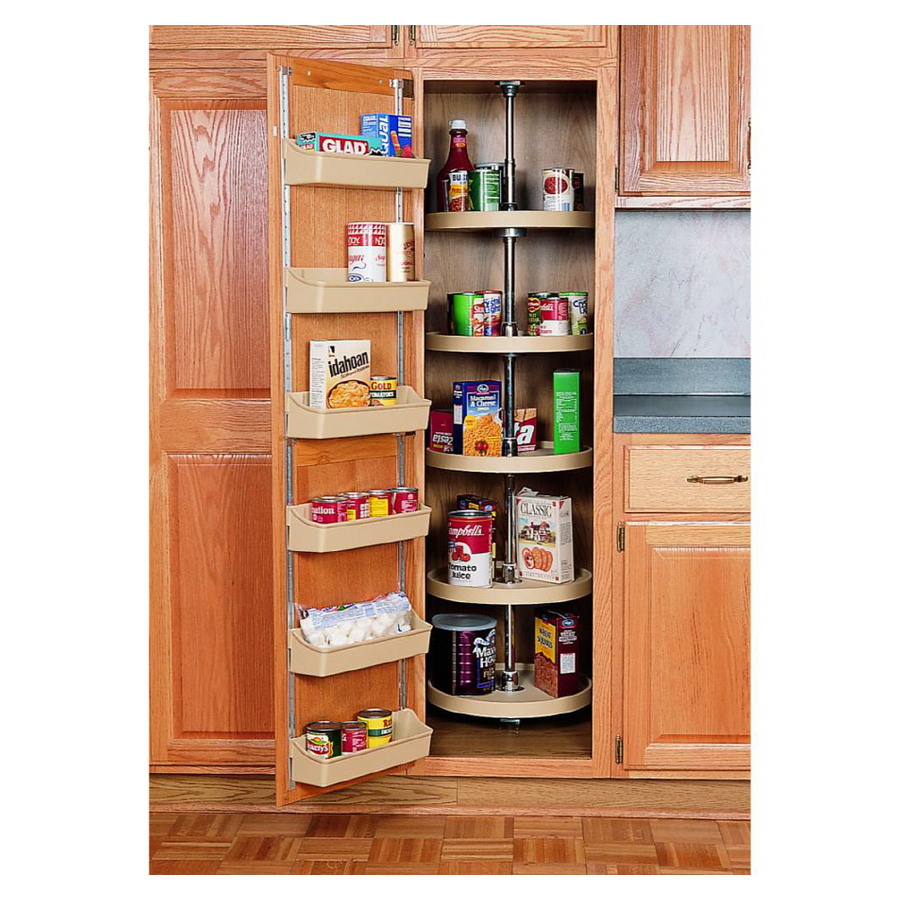 Shop rev a shelf 16 full circle pantry cabinet shelves at - Lowes kitchen shelving ...