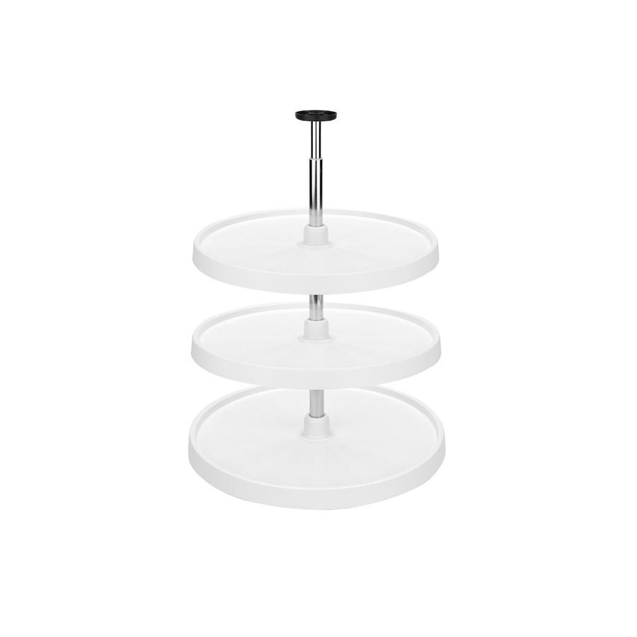 shop rev a shelf 3 tier plastic full circle cabinet lazy. Black Bedroom Furniture Sets. Home Design Ideas