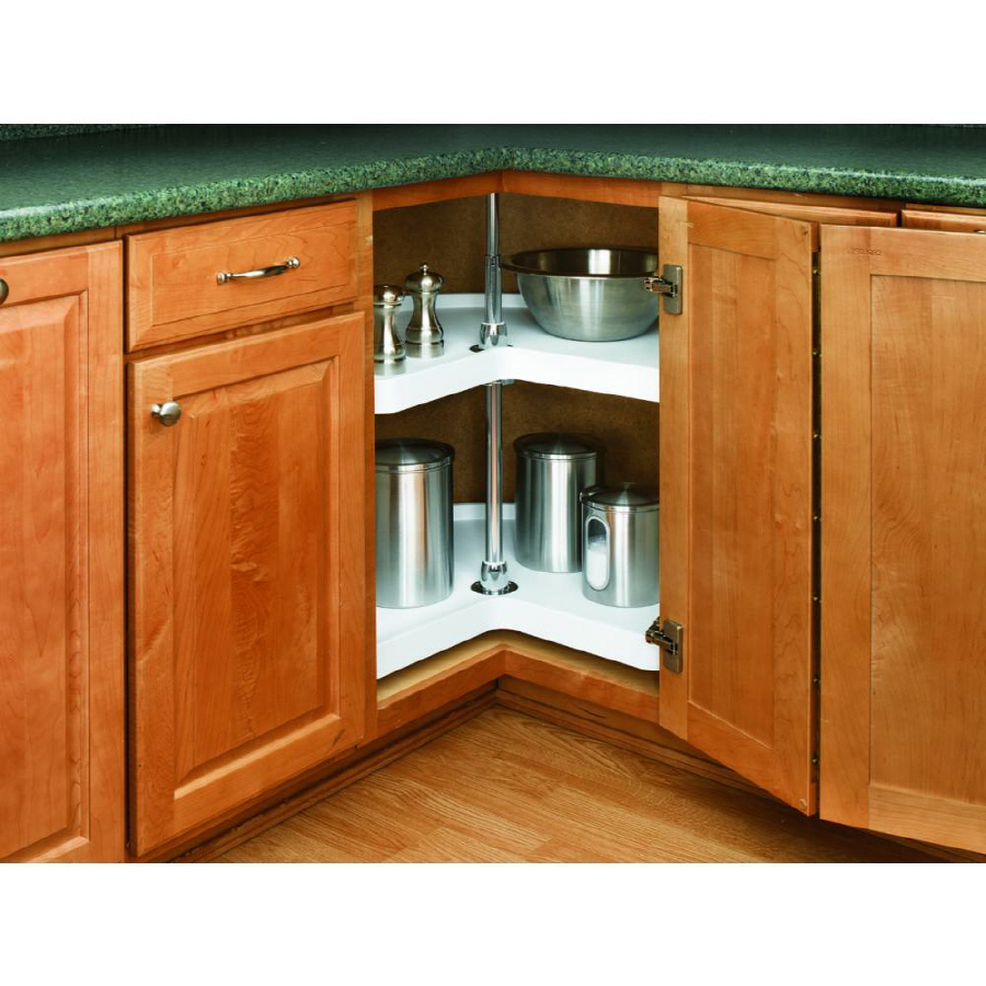 shop rev a shelf 2 tier plastic kidney cabinet lazy susan at