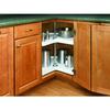 Rev-A-Shelf 2-Tier Plastic Kidney Cabinet Lazy Susan