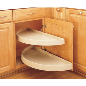 Shop Rev A Shelf 2 Tier Plastic Half Moon Cabinet Lazy Susan At Lowes