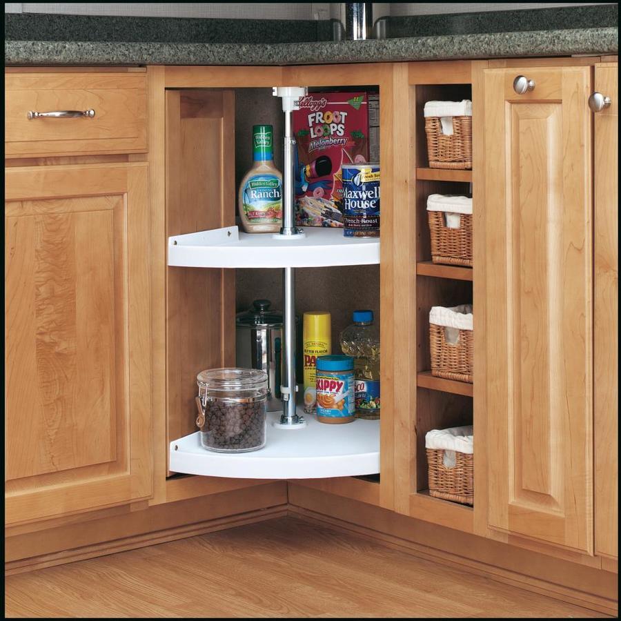 Shop Rev-A-Shelf 2-Tier Plastic Pie-Cut Cabinet Lazy Susan ...
