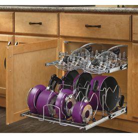 Rev-A-Shelf 20.75-in W x 22-in D x 18.13-in H 2-Tier Metal Pull Out Cabinet Basket