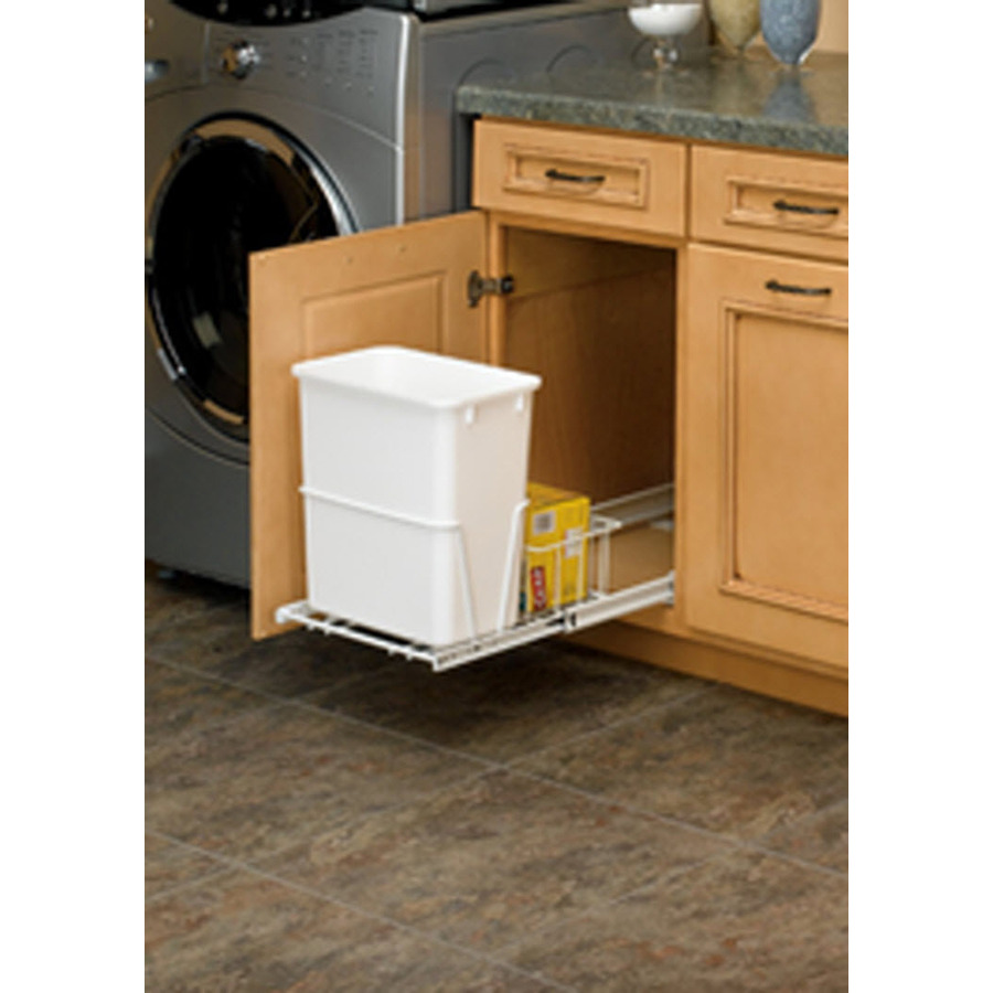 Shop Rev A Shelf 20 Quart Plastic Pull Out Trash Can At