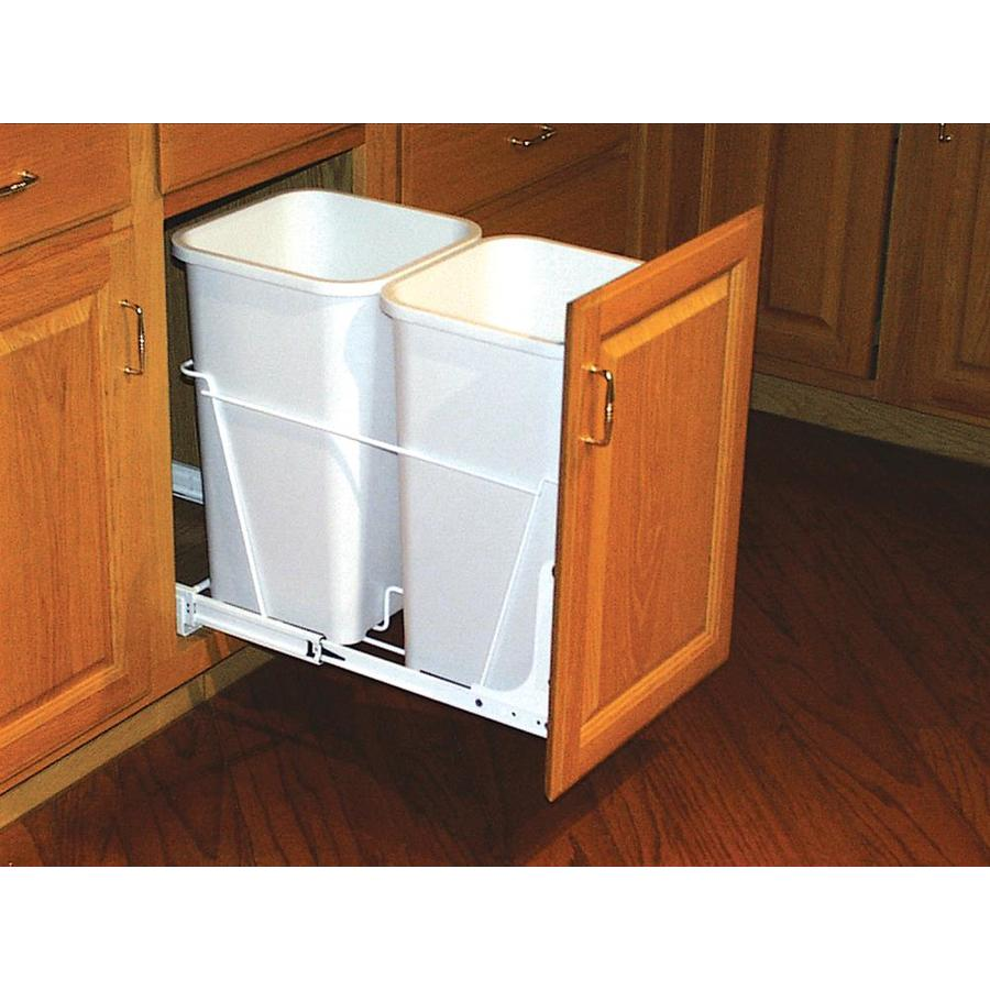 Shop Rev A Shelf 27 Quart Plastic Pull Out Trash Can At