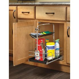 Rev-A-Shelf 11.25-in W x 16.25-in D x 19.5-in H 1-Tier Metal Pull Out Cabinet Basket