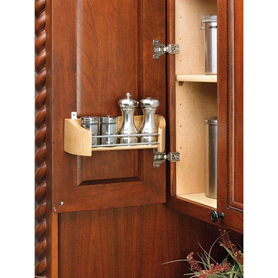 Shop rev a shelf wood wall mounted shelving at for Wallpaper tray home depot
