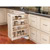 Rev-A-Shelf 9-in W x 23-in D x 30-in H 4-Tier Wood Pull Out Cabinet Basket