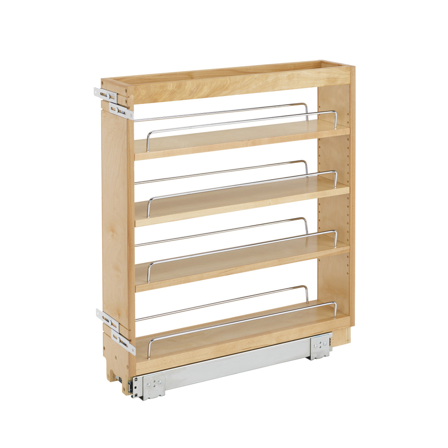 Shop rev a shelf 5 in w x d x h 1 tier wood pull out cabinet basket at - Lowes kitchen shelving ...