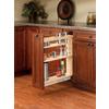 Rev-A-Shelf 5-in W x 22.47-in D x 25.48-in H 1-Tier Wood Pull Out Cabinet Basket
