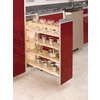 Rev-A-Shelf 8-in W x 22.47-in D x 25.48-in H 1-Tier Wood Pull Out Cabinet Basket