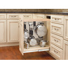 Rev-A-Shelf 8-in W x 22.5-in D x 25.5-in H 1-Tier Wood Pull Out Cabinet Basket