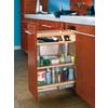 Rev-A-Shelf 8-in W x 19-in D x 25.5-in H 1-Tier Wood Pull Out Cabinet Basket