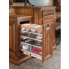 Rev-A-Shelf 8-in W x 19-in D x 25.5-in H 1-Tier Wood Pull Out Cabinet Basket