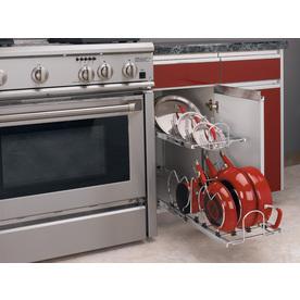 Rev-A-Shelf 11.75-in W x 22-in D x 18-in H 1-Tier Metal Pull Out Cabinet Basket