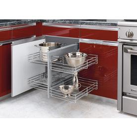 Rev-A-Shelf 26.25-in W x 20.25-in D x 21-in H 2-Tier Metal Pull Out Cabinet Basket