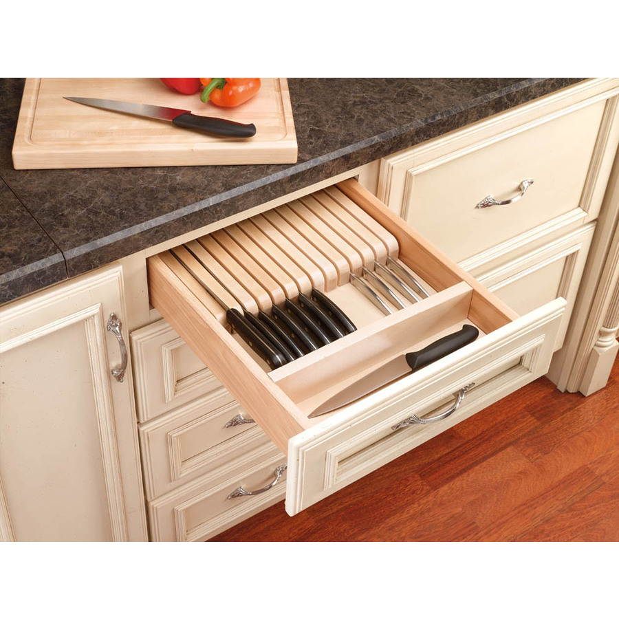 ... 22-in x 18.5-in Wood Cutlery Insert Drawer Organizer at Lowes.com
