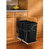 Rev-A-Shelf 27 Quart Plastic Pull Out Trash Can