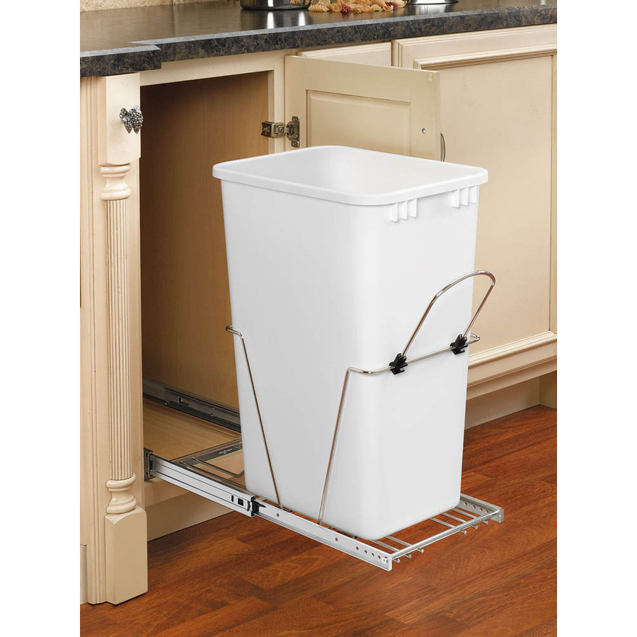 Rev a shelf trash can amazon rubbermaid 45 gallon trash can 17 best ideas about trash can wine - Small pull out trash can ...