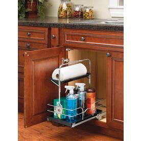 Rev-A-Shelf 11.25-in W x 16.25-in D x 19.5-in H 1-Tier Metal Pull Out Cabinet Basket